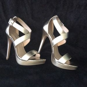 Nine West Shoes - Nine West Gold Stilettos
